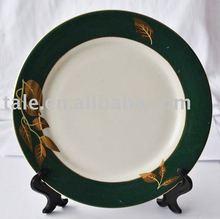 popular coated porcelain plate