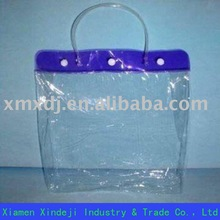 Clear PVC Pipe Handle Bag with good quality xmxdj-J0314
