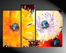Handmade Palette Group Abstract Flower Oil Painting for Home Decor
