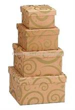 Kraft & Gold Swirls Nested Gift Boxes