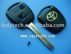 Toyota key shell, 2 buttons remote car key cover&key blank, car key Toy40