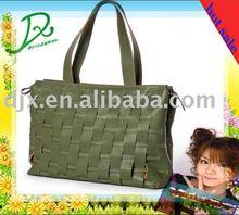 2011 fashion weave pu handlebag for lady