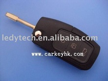 Good quality Ford Mondeo 3 buttons folding remote flip key shell blank cover case fobs