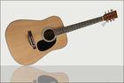 "41"" Natural color acoustic guitar"
