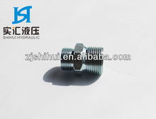 Carbon steel male straight adapters& hydraulic connector and hydraulic quick coupling and hydraulic adapters by CNC machine