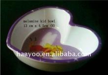 Melamine Heart Shape bowl :plastic bowl : kids bowls