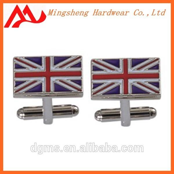 England flag cufflink for men's suit