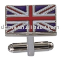 England flag cufflink for men's suit