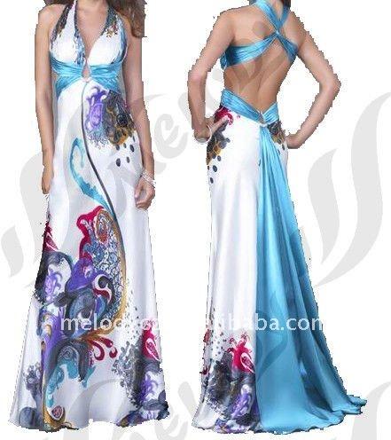 Halter patrones para el vestido de dama de honor-Vestidos de noche ...