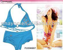 Nylon/spandex high leg bikini panties micro bikini sexy beachwear