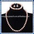 naturali di acqua dolce collana di perle set regalo