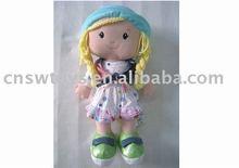 18 pulgadas de tela de algodón de la muñeca / trapo muñeca de la muchacha