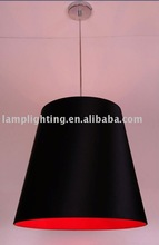 Big fabric shade pendant lamp with special red lining