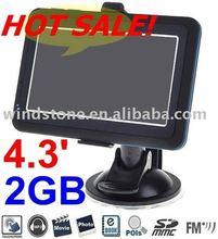 4.3 Slim GPS NAVIGATION /portable GPS/FM 2GB Map MP4 TOUCH SCREEN Automotive GPS Receiver