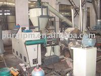 PVC recycling granulator /plastic pelletizing line