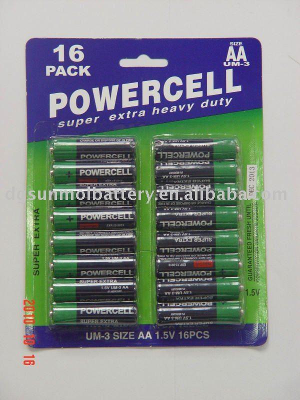 R6p 1.5v exta heavy duty battery ,dry battery