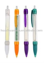 promotional translucent banner pen with rubber grip