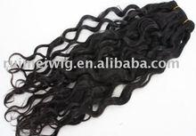 wholesale Jerry curl virgin hair indian / brazilian/peruvian hair weft