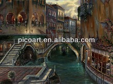 Romantic Venice oil painting in canvas