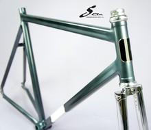 "New design 1"" thread Aluminum fixed/road bike frame"