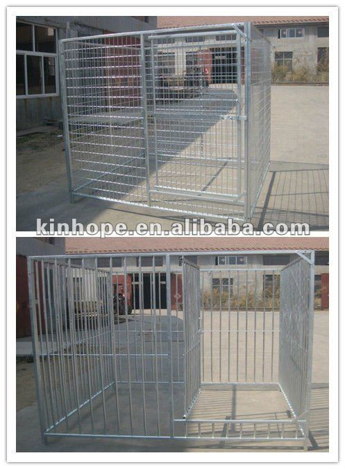 2m*2m*1.84m heavy duty galvanized dog kennel with welded wire