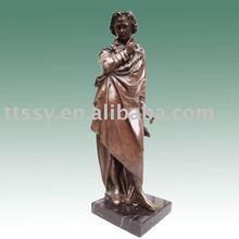 Mozart music figure cast bronze statue