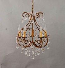 Antique gold color european arm-beaded chandelier