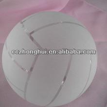 Sandblast crystal basketball