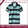 2014 cotton mens striped polo shirt; fashion leisure polo shirt