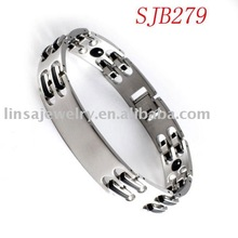 Top Shiny Polished Magnetic 316L Stainless Steel Bracelet
