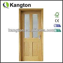 Glass insert solid wood glass door