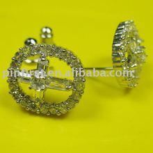 Cubic Zirconia Trendy Cross Earrings