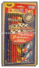 2014 new stationery car 10pcs school set
