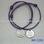 2014 yiwu wholesale promotional fashion cord charm bracelet ,in china for hello kitty
