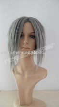 Mature grey hair wigs synthetic for old man | short gray wig