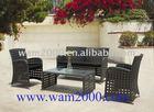 patio garden pe rattan open weaving lounge set for outdoor