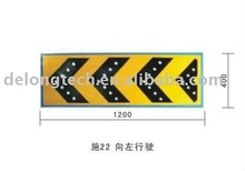 solar led traffic guide sign for left direction