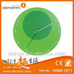 simple design glass wall clock