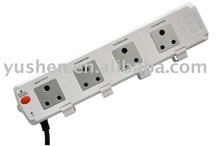 India PC type power 4 outlet surge protector power socket