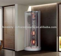 combined infrared steam shower, steam sauna bath