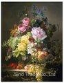 pintadas à mão fotos de flores sobre tela