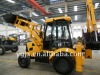 small wheel backhoe loader for sale 4WD,cummins engine,with air-condition, JCB bucket