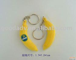 Banana design 3D keychain/soft pvc keychain/EVA keychain