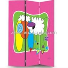 chilren wooden canvas screen/canvas room dividers/canvas shoji screen