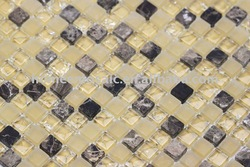 GS69 glass mosaic yellow bathroom kitchen interior wall glass mosaic tile