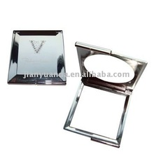 UV plating pocket size square cosmetic mirror