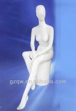 2013 new adjustable window display skin sitting female mannequin