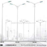 double arm 9m street light pole design