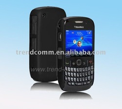 colorful rubber crystal case for blackberry 8520