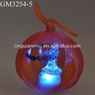 halloween glass pumpkin with LED light